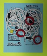 1990 Williams Whirlwind pinball rubber ring kit