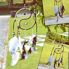 Taiji Dream Catcher Net With Feather Wall Hanging Home Car Decoration Ornament