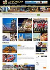 London UK Hotel and Travel website for sale Affiliate responsive mobile design