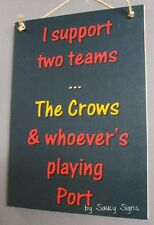 Adelaide Crows v Port Adelaide Power Footy Sign Aussie Rules Bar Shed Man Cave
