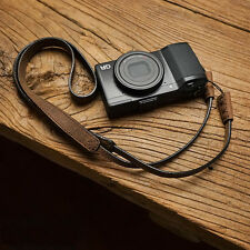Handmade Genuine Leather Camera Shoulder Neck Strap for Leica LUX Ricoh GR Sony