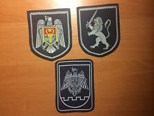 PATCH POLICE MOLDOVA - Current style ORIGINAL (lot 3  patches)