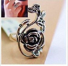 R1193 Nice CHarming Vintage Fashion Retro Style Antiqued Silver Flower Ring #7