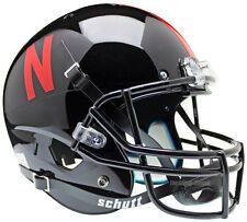 NEBRASKA CORNHUSKERS BLACK SCHUTT XP FULL SIZE REPLICA FOOTBALL HELMET