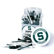 MICHIGAN STATE SPARTANS Imprinted Golf Tees. Plastic Jar of 175 Imprinted Tees
