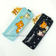 Cute Rilakkuma Bear Fabric Pencil Case Pen Zipper Bag School Stationery Supplies