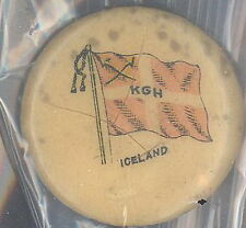 Whitehead & Hoag - Pin-back button -  Flags - Iceland