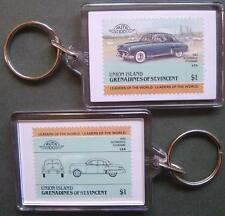 1949 OLDSMOBILE FUTURAMIC Car Stamp Keyring (Auto 100 Automobile)