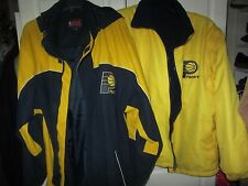 NBA Indiana Pacers 3 in1 parka, zip out reversible jacket w/zip off sleeves sz L
