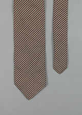 Roy Robson - Rust/Cream Check Silk Tie - One Size - *NEW WITH TAGS* RRP £35