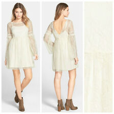COCO + JAMESON  BOHO  VICTORIAN  LACE  BABYDOLL   DRESS  Sz M   NEW  Nordstrom