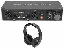 M-Audio M-Track Plus II 2-Channel USB MIDI & Audio Interface + Samson Headphones
