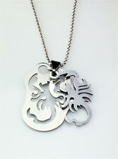 Fashion Spider-Man Silver 316L Stainless Steel Titanium Pendant Necklace NEW #