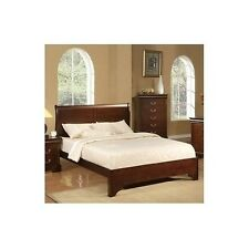 Full Sleigh Bed Frame Wood Headboard Contemporary Furniture Classic Bedroom Beds