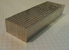 "200 NEODYMIUM magnets. 3/4"" x 3/16"" x 1/8"" super strong rare earth magnets. N52"