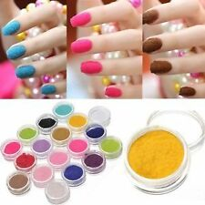 12 colors Nail Art Velvet Flocking Dust Powder Polish Manicure Tips Decoration