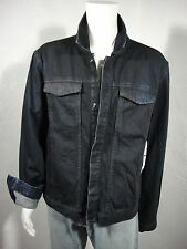 NWT CALVIN KLEIN JEANS Trucker Coated Washed-out Denim Jacket  Black sz XXL