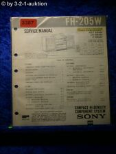 Sony Service Manual FH 205W Compact Component System  (#3387)