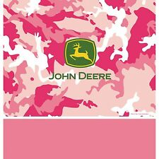 """54"""" x 108"""" John Deere Pink Camo Farm Tractor Birthday Party Plastic Table Cover"""