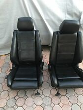 BMW E30 Front Sport Seats New Black Marine Vinyl M Technic Edition