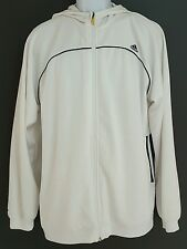 Adidas ClimaCool Track Jacket, Men's Large White With Blue Strip And Hood