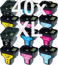 40 XXL PATRONEN für HP363 C5180 C6250 C7180 C7280 C8180 3110 3210 3310 8230 8250