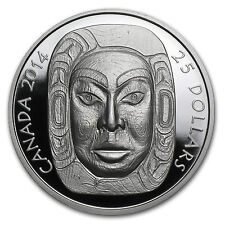 2014 1 oz Silver Canadian $25 Ultra High Relief Matriarch Moon Mask - SKU #82119