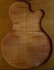 Gorgeous 5A curly figured flame maple guitar drop top blank tonewood luthier #40