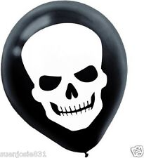 Halloween Skeleton Skull Latex Balloons 15pc Pirate Party Favors Decorations