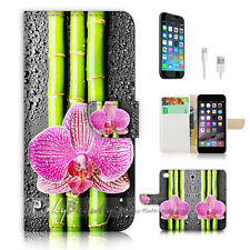 iPhone 7 (4.7') Flip Wallet Case Cover P1345 Bamboo Flower
