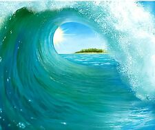 Giant SURF Ocean WAVE backdrop Luau Hawaiian Beach Party Decorations Photo op