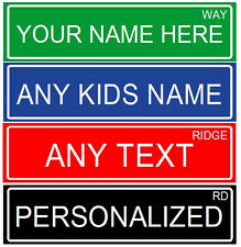 "MAKE YOUR OWN PERSONALIZED ALUMINUM RUSTPROOF METAL CUSTOM STREET SIGN, 6""X24"""
