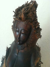 DEWI SRI ORIGINAL CARVED BAMBOO TREE ROOT SCULPTURE  23""