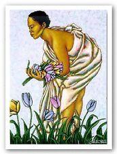 AFRICAN AMERICAN ART PRINT Tulips II by LaShun Beal