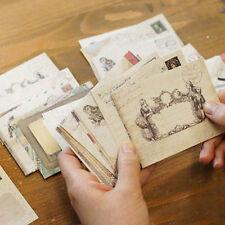 12PCS Rétro Mini Papier Enveloppes Papeterie Lettre Postale Vintage