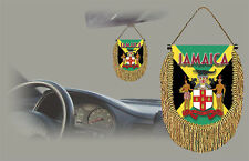 JAMAICA REAR VIEW MIRROR WORLD FLAG CAR BANNER PENNANT