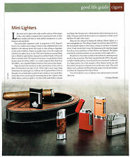 AD.  CIGAR LIGHTERS S.T. DUPONT'S LINE-8, SIGLO RETRO II, XIKAR ALLUME, BRIZARD