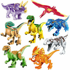 8PCS Minifigures Dinosaur Rex Tyrannosaurus Jurassic World fit Lego Building Toy