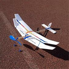 Rubber Band Elastic Powered Flying Glider Plane Airplane DIY Toy For Kids Fun
