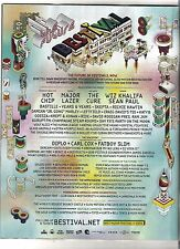 CURE FAT BOY SLIM Bestival 2016 UK magazine ADVERT/Poster/clipping 11x8 inches