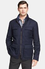 $1,045 Armani Collezioni Wool & Cashmere Quilt Lined Field Jacket Size 56-46