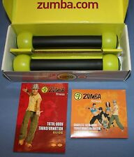 Zumba Fitness Join the Party Set Hand Weights DVDs Guide Toning Sticks Box