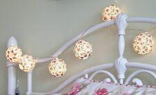 10x Cinese Lanterne Interno Camera da letto Matrimonio Batteria LED Fata