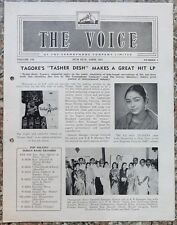 India THE VOICE April 1964 HMV Magazine - Nepali Singer DILMAYA