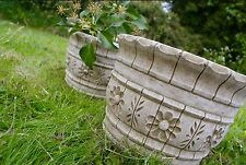 PAIR (2) WESTLAND FLOWER POTS Planters Patio Stone Cast  Bespoke Garden Decor