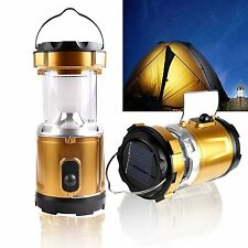 LED Solar Camping Light & Flashlight USB Power Bank Outdoor Hiking Lantern Lamp