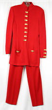 VTG ST JOHN by Marie Gray Red Knit Pant Suit Set Size 6 (Rack 1-M)