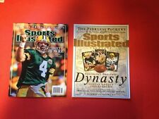 2 SPORTS ILLUSTRATED GREEN BAY PACKERS Lot Football Greatest Dynasty Vtg FAVRE
