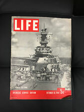 RARE LIFE OCTOBER 30 1944 5d Version OVEREAS SERVICE EDITION NEWEST USS IOWA
