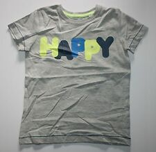New NEXT UK Gray Happy Graphic Short Sleeve Top Tee Size 5-6 year 116 cm NWT